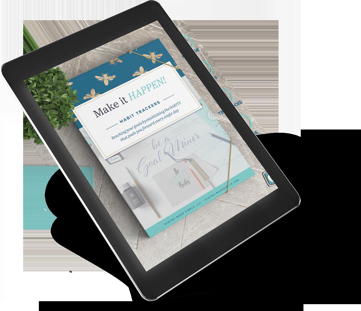 Habit Tracker Digital Planner, Digital Made Simple