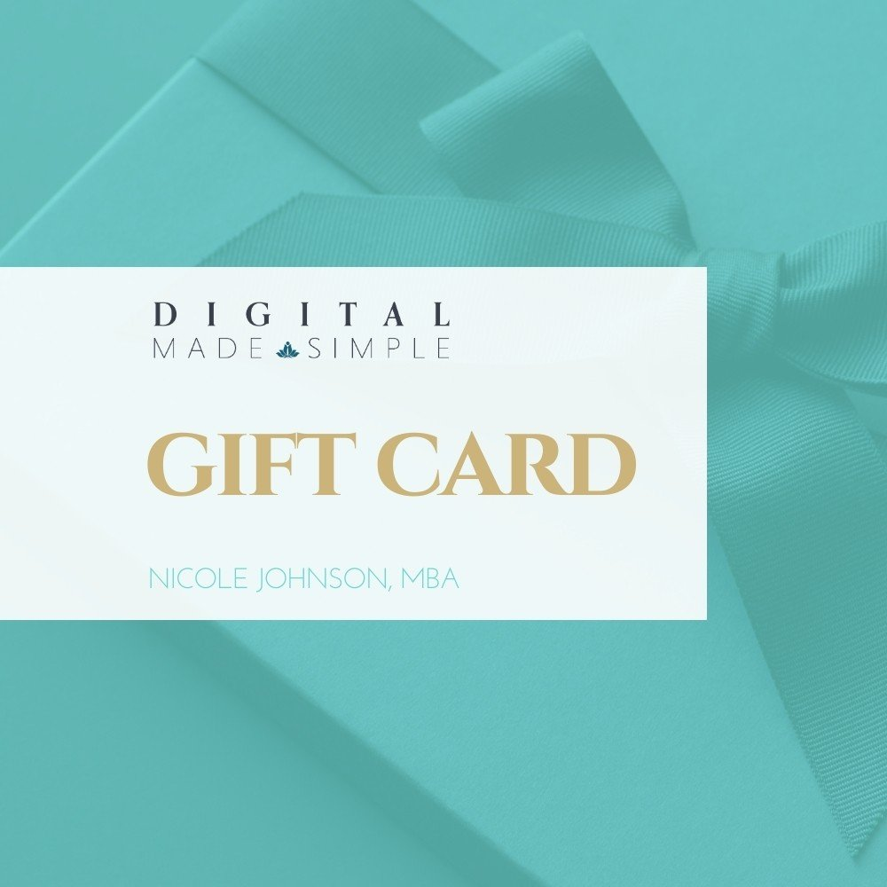 Digital Made Simple gift cards